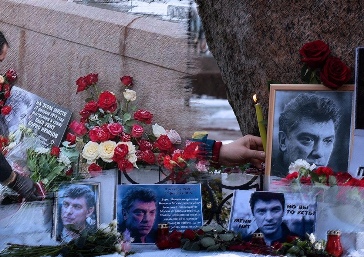 В Москве благодаря «неофициальному разрешению» прошла акция памяти Бориса Немцова