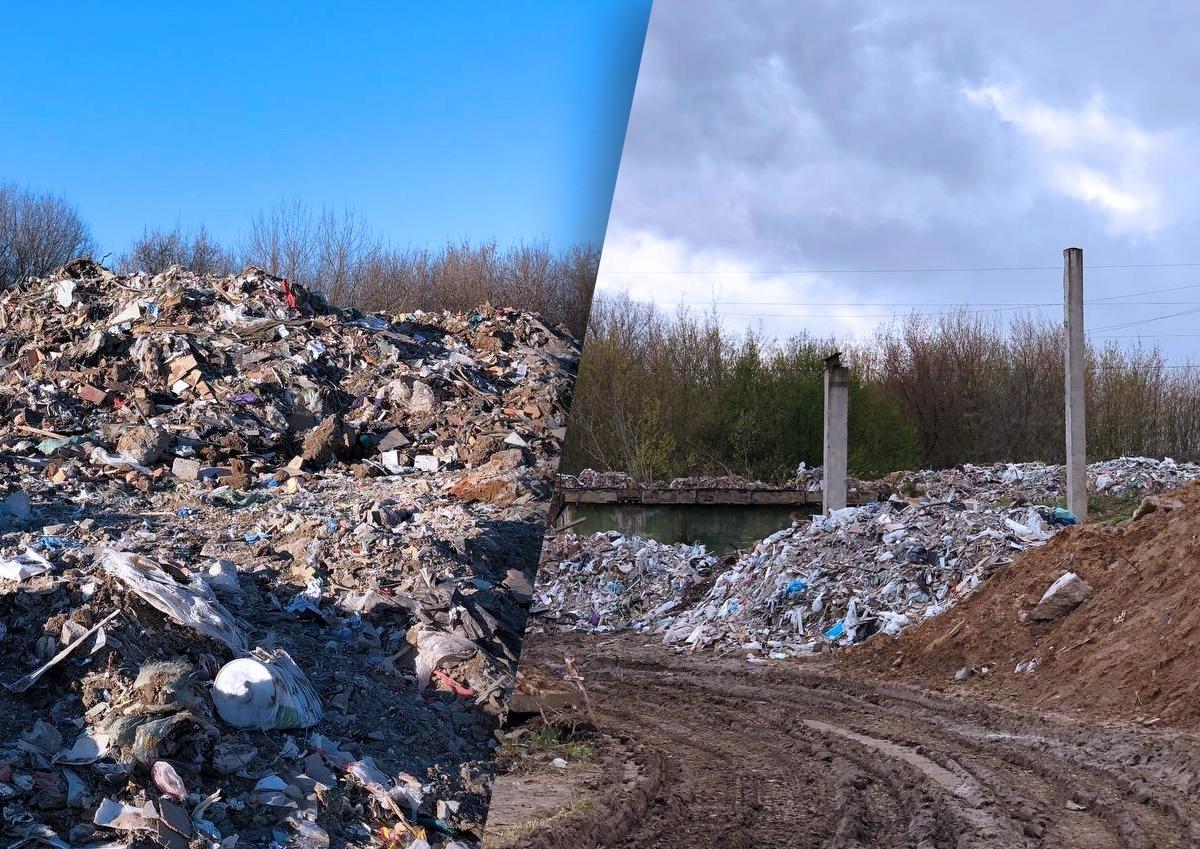 В подмосковном Чулково образовалась свалка строительного мусора, которую не спешат устранять